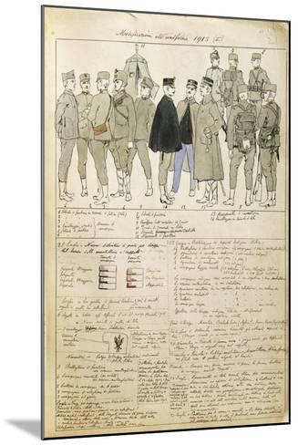 Uniform Variations of Kingdom of Italy, 1913--Mounted Giclee Print