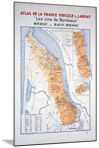 Map of the Bordeaux Region: Medoc and Haut-Medoc--Mounted Giclee Print