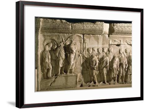 Model of Trajan's Column--Framed Art Print