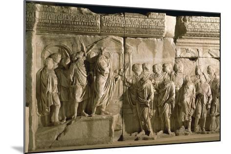 Model of Trajan's Column--Mounted Giclee Print