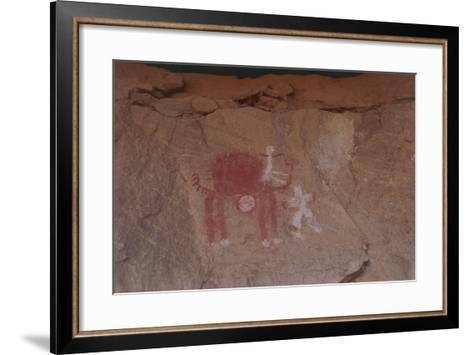 Close-Up of Rock Paintings, Akakus Massive, Libya, Depicting a Camel--Framed Art Print