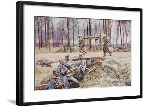 Blue and Khaki: at the Linking of the Lines--Framed Art Print