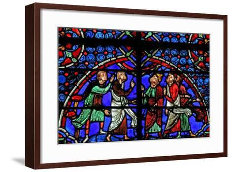 Window W3 Depicting Discussion Re the Cana Marriage--Framed Art Print