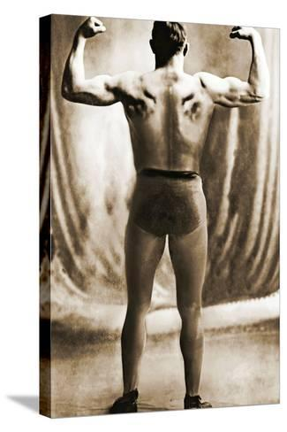 Danish Heavyweight Wrestler, 1913--Stretched Canvas Print