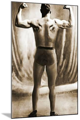Danish Heavyweight Wrestler, 1913--Mounted Photographic Print