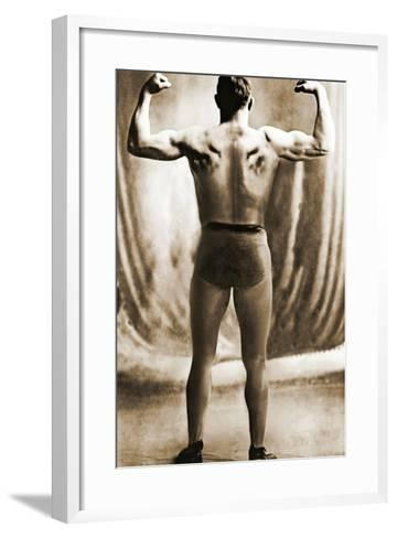 Danish Heavyweight Wrestler, 1913--Framed Art Print