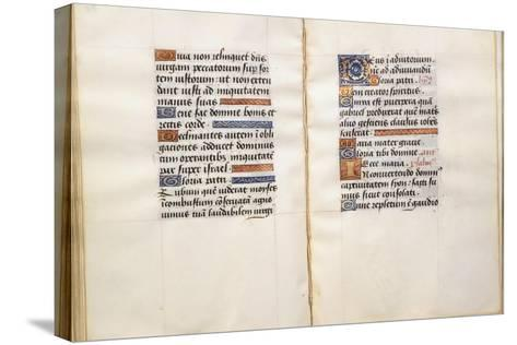 Illuminated Page, from the Book of Hours, According to the Use of Poitiers--Stretched Canvas Print