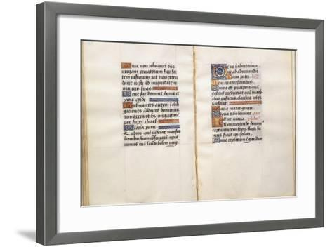 Illuminated Page, from the Book of Hours, According to the Use of Poitiers--Framed Art Print