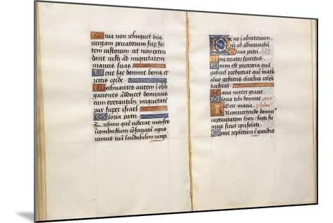 Illuminated Page, from the Book of Hours, According to the Use of Poitiers--Mounted Giclee Print