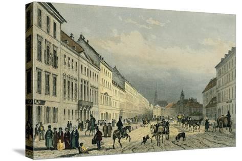 Austria, Vienna, Laegerzeile--Stretched Canvas Print