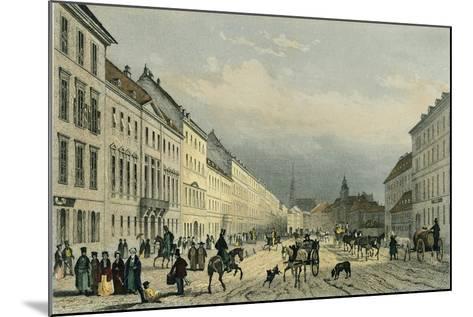 Austria, Vienna, Laegerzeile--Mounted Giclee Print