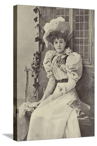"""Miss Ethel Haydon, as Alice in """"Dandy Dick Whittington""""--Stretched Canvas Print"""