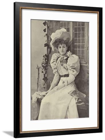 """Miss Ethel Haydon, as Alice in """"Dandy Dick Whittington""""--Framed Art Print"""