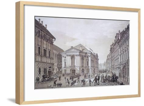 Prague National Theatre, Czech Republic Watercolour--Framed Art Print