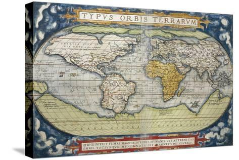 World Map from Theatrum Orbis Terrarum, 1570--Stretched Canvas Print