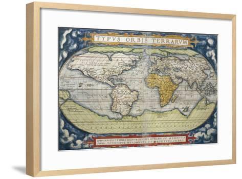 World Map from Theatrum Orbis Terrarum, 1570--Framed Art Print