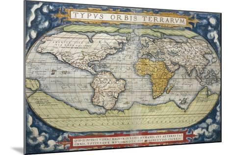 World Map from Theatrum Orbis Terrarum, 1570--Mounted Giclee Print