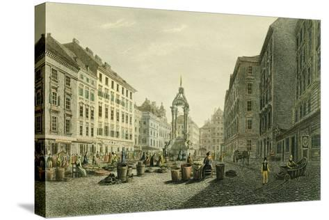 Austria, Vienna, Hoher Markt with Wedding Fountain in Middle--Stretched Canvas Print