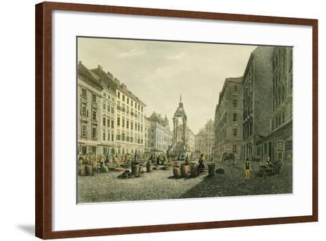 Austria, Vienna, Hoher Markt with Wedding Fountain in Middle--Framed Art Print
