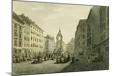 Austria, Vienna, Hoher Markt with Wedding Fountain in Middle--Mounted Giclee Print
