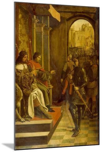 Saint Sebastian before the Roman Emperors Diocletian and Maximianus, 1497--Mounted Giclee Print