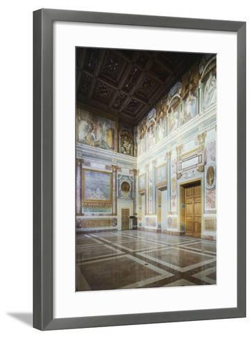 Frescoed Walls, Aula Massima, Lateran Palace, Rome, Vatican City, Italy, 16th Century--Framed Art Print