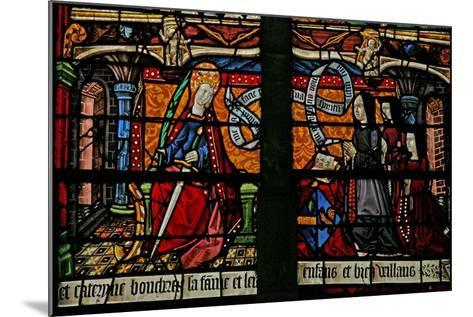 Window W4 Depicting a Donor - Catherine Boucheret with Family and St. Catherine--Mounted Giclee Print