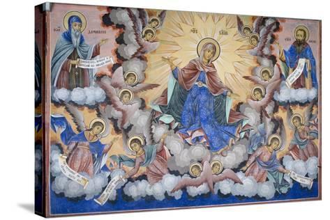 Bulgaria, Rila Monastery of Glory of Virgin at Church of Nativity of Virgin--Stretched Canvas Print
