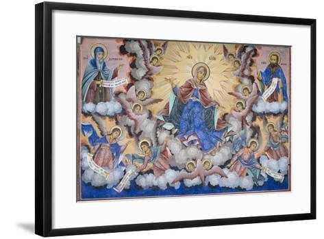 Bulgaria, Rila Monastery of Glory of Virgin at Church of Nativity of Virgin--Framed Art Print