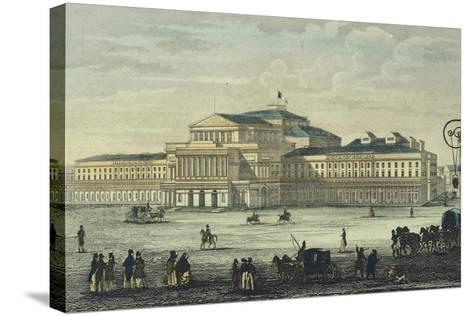 Warsaw National Theatre, Poland 19th Century--Stretched Canvas Print