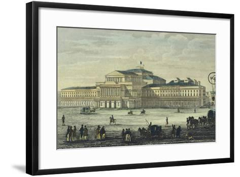 Warsaw National Theatre, Poland 19th Century--Framed Art Print