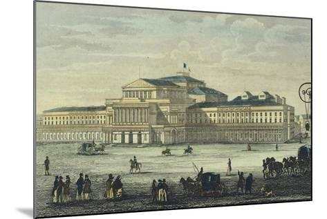 Warsaw National Theatre, Poland 19th Century--Mounted Giclee Print