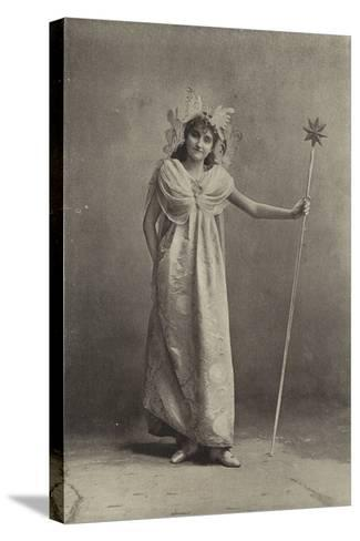 """Miss Minnie Terry, as the Sylph Coquette in """"Cinderella""""--Stretched Canvas Print"""