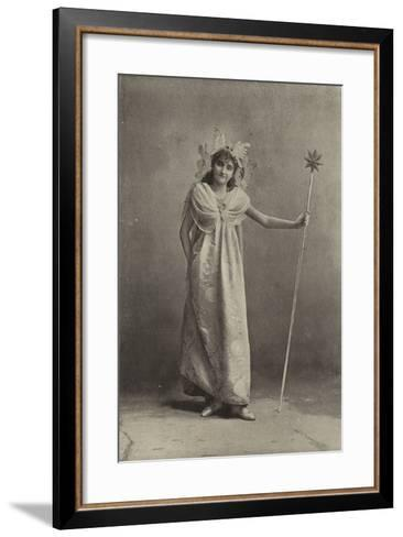 """Miss Minnie Terry, as the Sylph Coquette in """"Cinderella""""--Framed Art Print"""