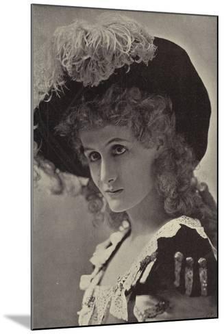 Miss Alice Lethbridge--Mounted Photographic Print