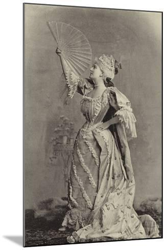 Miss Fortescue, as Lady Teazle--Mounted Photographic Print