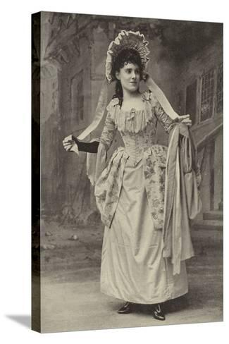 """Miss Alice Esty, in """"The Golden Web""""--Stretched Canvas Print"""