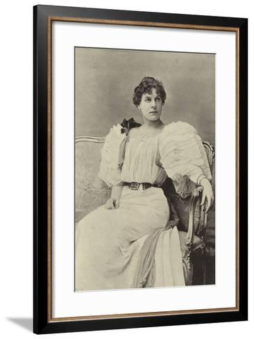 "Miss Jessie Millward, as Margaret Marrable, in ""The Fatal Card""--Framed Art Print"