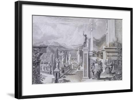 Glimpse of the Park at Palazzo Borromeo on Isola Bella on Lake Maggiore--Framed Art Print