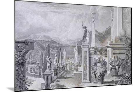 Glimpse of the Park at Palazzo Borromeo on Isola Bella on Lake Maggiore--Mounted Giclee Print