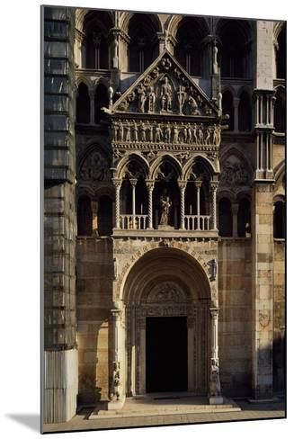 Porch and Main Doorway of Facade of Saint George Martyr Basilica, Ferrara, Emilia-Romagna, Italy--Mounted Giclee Print