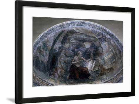 Saint Jerome in Niche of Chapel of Saint Aquilino, Basilica of Saint Lawrence, Milan, Italy--Framed Art Print