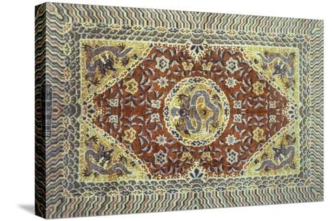 Rugs and Carpets: China - Silk Carpet--Stretched Canvas Print