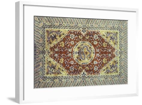 Rugs and Carpets: China - Silk Carpet--Framed Art Print