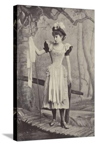 """Miss Irene Iris, as Little Bo Peep, in """"Red Riding Hood,"""" Gaiety Theatre, Dublin--Stretched Canvas Print"""