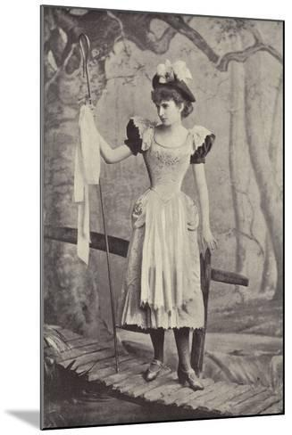 """Miss Irene Iris, as Little Bo Peep, in """"Red Riding Hood,"""" Gaiety Theatre, Dublin--Mounted Photographic Print"""