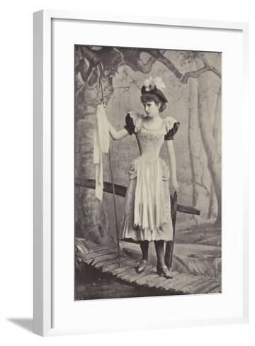 "Miss Irene Iris, as Little Bo Peep, in ""Red Riding Hood,"" Gaiety Theatre, Dublin--Framed Art Print"