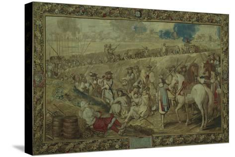 Louis XIV at the Battle of Tournay, June 21, 1667--Stretched Canvas Print