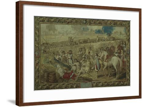 Louis XIV at the Battle of Tournay, June 21, 1667--Framed Art Print