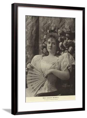 Miss Lillian Russell--Framed Art Print